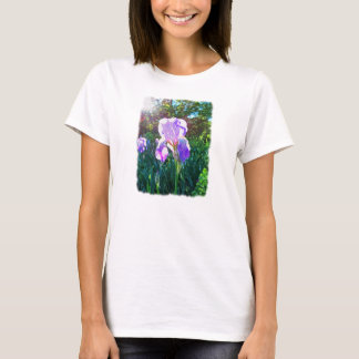 """Sunlit Iris"" (on white) T-Shirt"