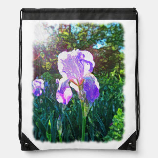 """Sunlit Iris"" Cinch Bag"