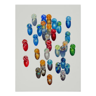 Sunlit Marbles Poster