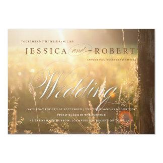 Sunlit Meadow Rustic & Elegant Wedding Invitation