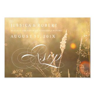 Sunlit Meadow Rustic & Elegant Wedding Rsvp Cards