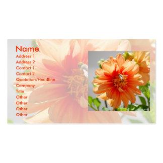 Sunlit Orange Dahlia Business Cards