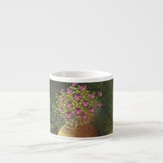 Sunlit Pansies and Lobelia in Pot Espresso Mug 6 Oz Ceramic Espresso Cup
