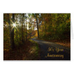 Sunlit Path Anniversary Card