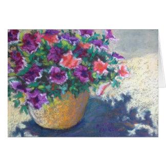 sunlit Petunias Card