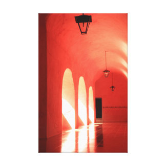 Sunlit Pink Arches Canvas Print