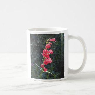 Sunlit Pink Penstemon Flower Coffee Mug