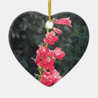 Sunlit Pink Penstemon Flower Happy Mothers Day Ceramic Ornament