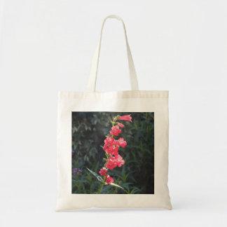 Sunlit Pink Penstemon Flower Tote Bag