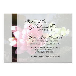 Sunlit Pink Water Lily Personalized Invitations