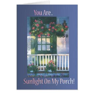 Sunlit Porch Greeting Card