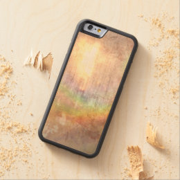 sunlit rainbow grunge effect abstract art carved maple iPhone 6 bumper case
