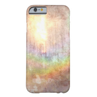 sunlit rainbow grunge effect abstract art barely there iPhone 6 case
