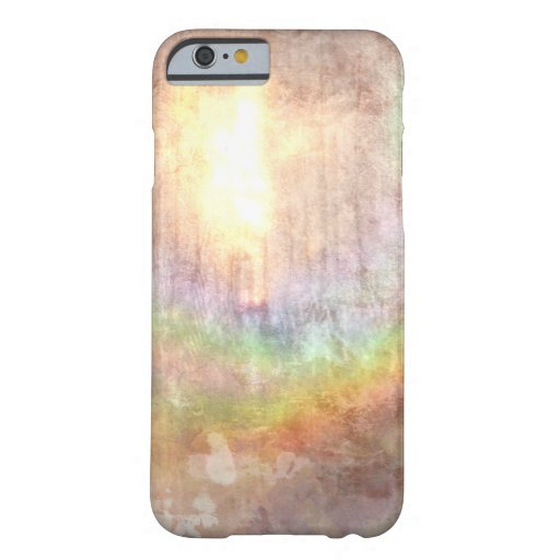 sunlit rainbow grunge effect abstract art iPhone 6 case