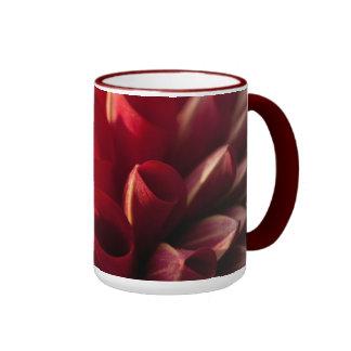 Sunlit Red Dahlia Coffee Mug
