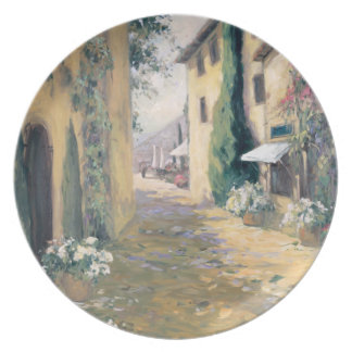 Sunlit Villa I Melamine Plate