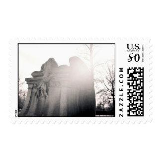 sunlit weeping angel stamps