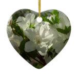 Sunlit White Azaleas Beautiful Spring Flowers Ceramic Ornament
