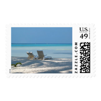 Sunloungers Postage Stamp