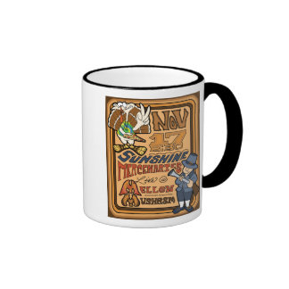 sunmerc flyer (turkey) ringer coffee mug