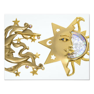 SunMoonSparkle053109 4.25x5.5 Paper Invitation Card