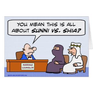 sunni shia, islam, muslim, marriage, counselor card