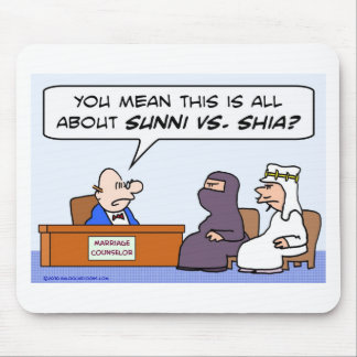 sunni shia, islam, muslim, marriage, counselor mouse pad