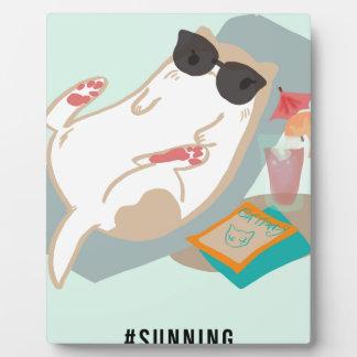 Sunning Basic Cat Plaque