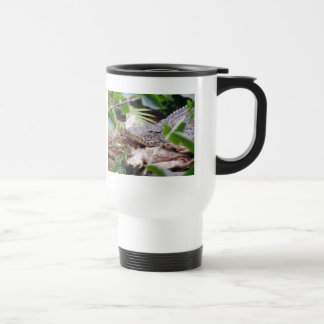 Sunning Crocodile Travel Mug