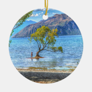 Sunning Lake Wanaka New Zealand Sea island gifts Ceramic Ornament