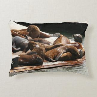 Sunning Sea Lions in San Francisco Decorative Pillow