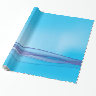Sunny abstract blue wave wrapping paper