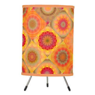 Sunny Abstract Floral Design Lamp