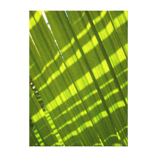Sunny Abstract Leaves Canvas Print