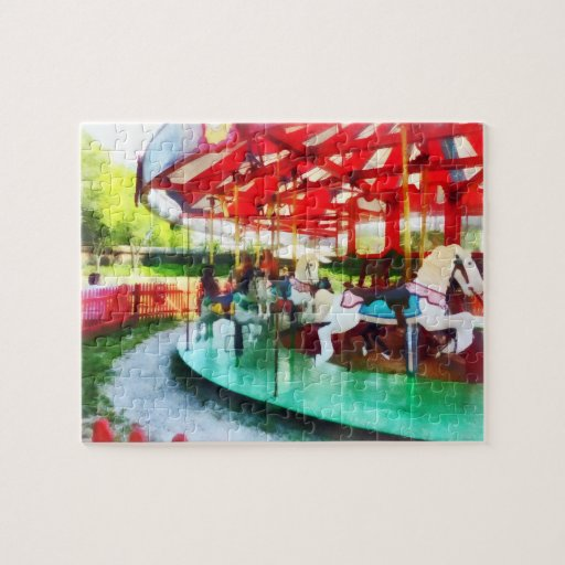 Sunny Afternoon on the Carousel Jigsaw Puzzle
