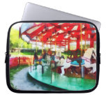 Sunny Afternoon on the Carousel Laptop Computer Sleeve