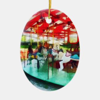 Sunny Afternoon on the Carousel Ornament