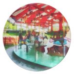 Sunny Afternoon on the Carousel Party Plate