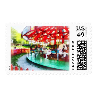 Sunny Afternoon on the Carousel Postage
