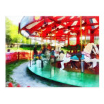 Sunny Afternoon on the Carousel Postcard