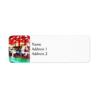 Sunny Afternoon on the Carousel Return Address Label