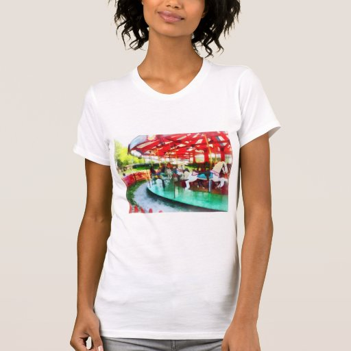Sunny Afternoon on the Carousel Tee Shirt