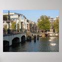 Sunny Amsterdam Picture Photo Poster Souvenir print