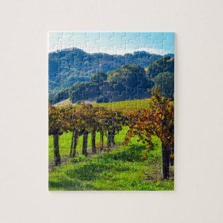 Sunny Autumn Vineyard Jigsaw Puzzle