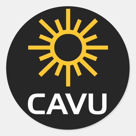 Sunny Aviation Lingo CAVU Classic Round Sticker