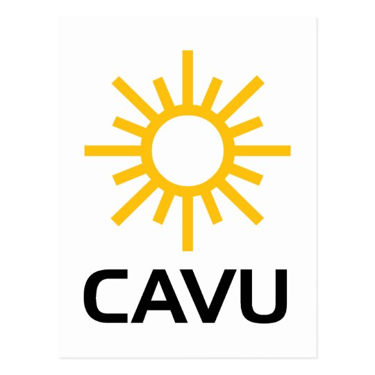 Sunny Aviation Lingo CAVU Postcard