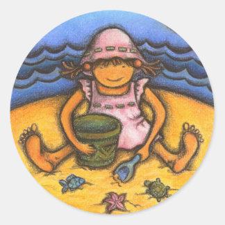 sunny baby classic round sticker