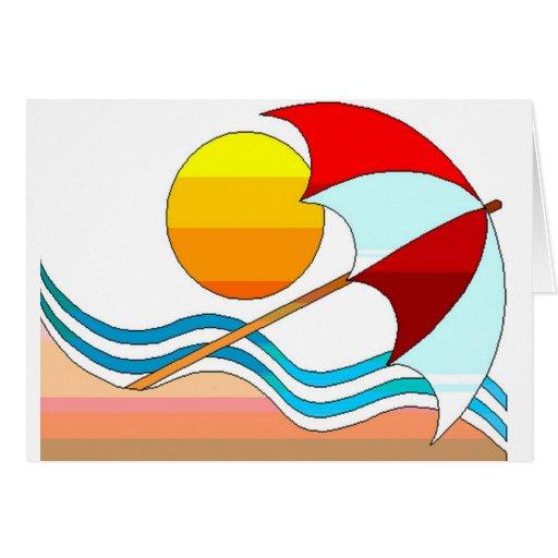 Sunny  Beach Greeting Cards