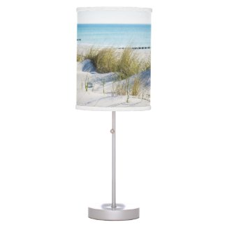 Sunny Beach Ocean and Dunes Lamp
