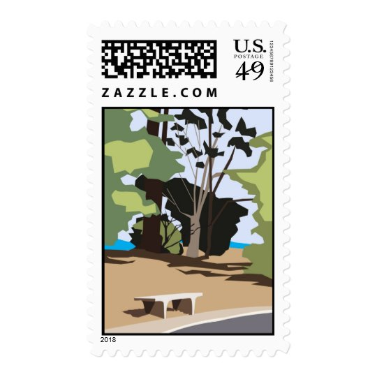 Sunny Bench Postage